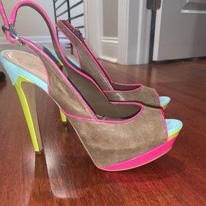 Jessica Simpson multicolor heels